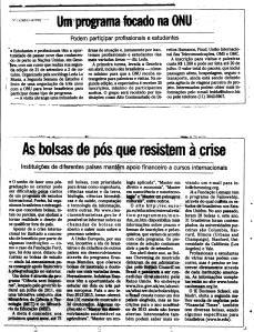 Nota sobre a Semana de Estudos no Jornal O Globo 24 de junho de 2012